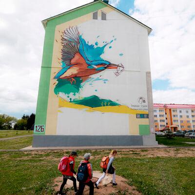 Зимородок - птица Воложинского района